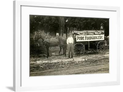 Pure Food Grocery Wagon--Framed Art Print