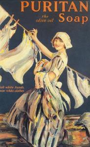 Puritan, Washing Powder Products Detergent, UK, 1910