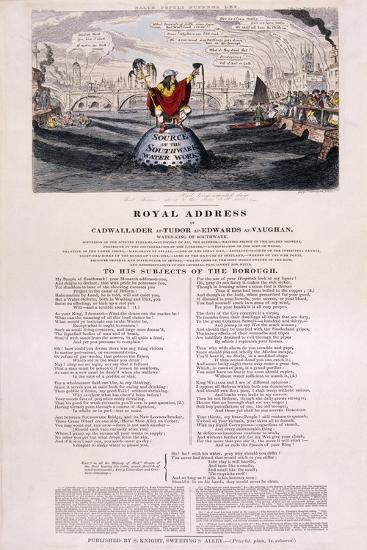 Purity of the River Thames, 1832-George Cruikshank-Giclee Print