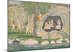 The Five Siddhas Make their Way to the Kailasha Mountains, C.1820 by Purkhu