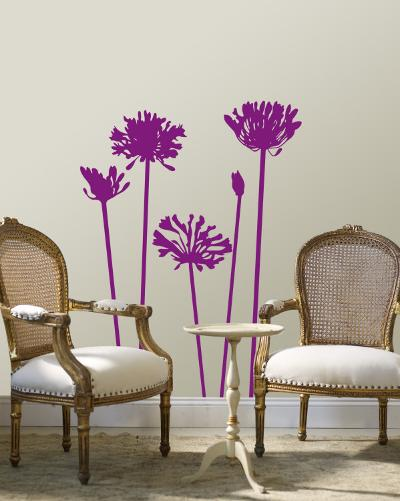 Purple Agapanthus--Wall Decal