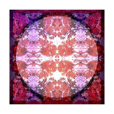 Purple and Red Baroque Ornament-Alaya Gadeh-Art Print