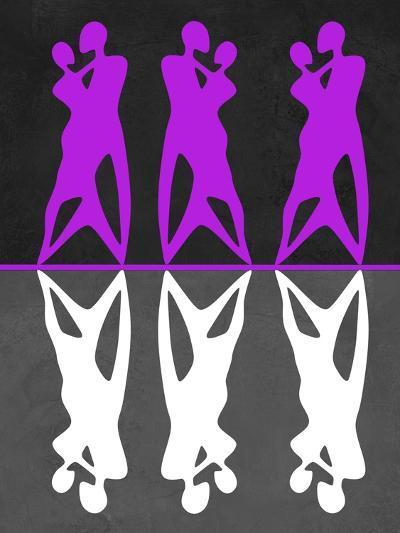 Purple and White Dance-Felix Podgurski-Art Print