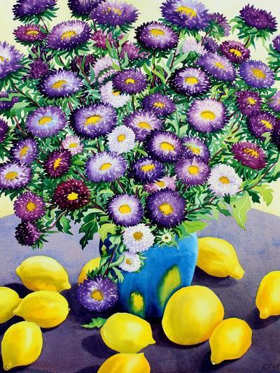 Purple Asters and Lemons-Christopher Ryland-Giclee Print