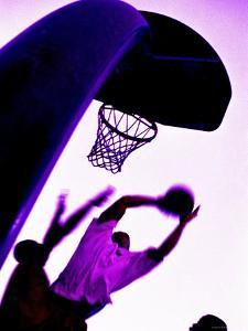 Purple Basketball Game