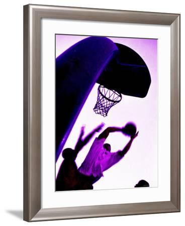 Purple Basketball Game--Framed Photographic Print