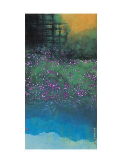 Purple Bellflowers-Chingkuen Chen-Giclee Print