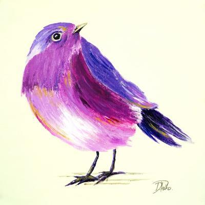 Purple Bird I-Patricia Pinto-Art Print
