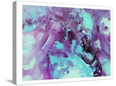 Purple Bubbles-Deb McNaughton-Stretched Canvas Print