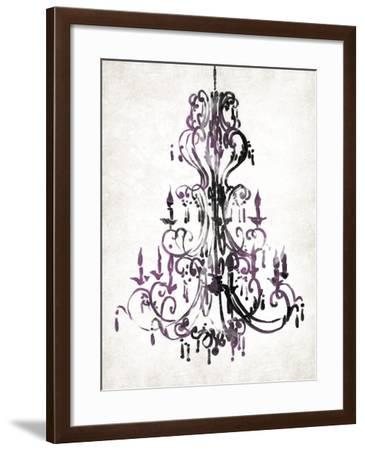 Purple Chandelier-OnRei-Framed Art Print