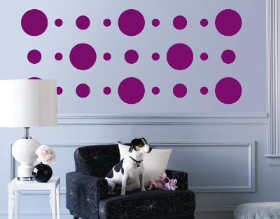 Purple Circles--Wall Decal