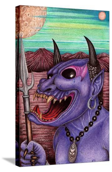 Purple Demon-Carlos Fox Lopez-Stretched Canvas Print