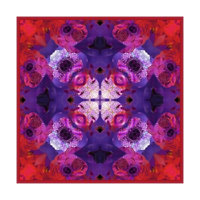 Purple Diamond Mandala-Alaya Gadeh-Art Print