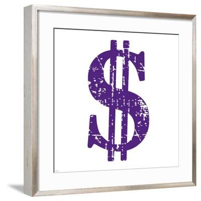 Purple Dollar Sign-Veruca Salt-Framed Art Print