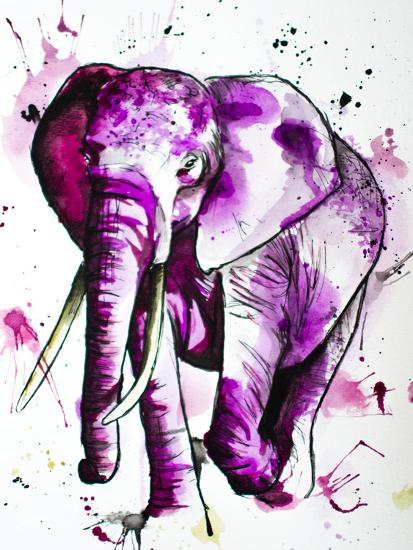 Purple Elephant-Allison Gray-Art Print