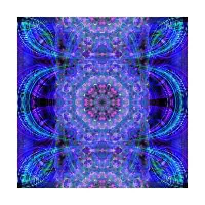 Purple Energy Mandala-Alaya Gadeh-Art Print