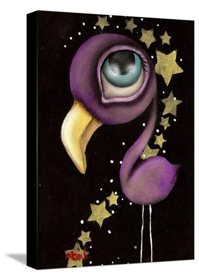Purple Flamingo-Abril Andrade-Stretched Canvas Print