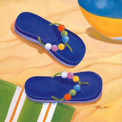 Purple Flip Flops-Paul Brent-Art Print
