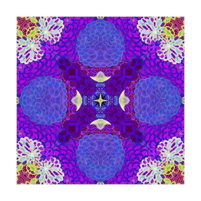 Purple Flower Mandala Drawing-Alaya Gadeh-Art Print