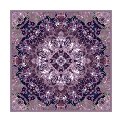 Purple Flower Mandala I-Alaya Gadeh-Art Print