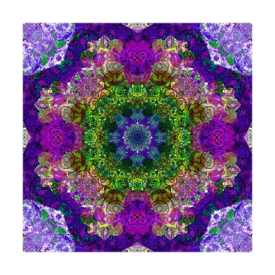 Purple Flower Mandala Sandra-Alaya Gadeh-Art Print