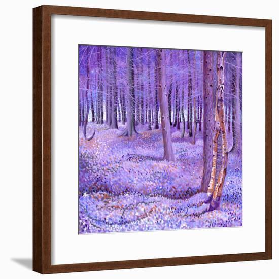 Purple Forest 2, 2012-David Newton-Framed Giclee Print