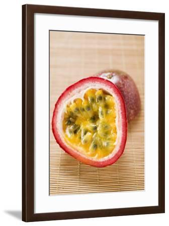 Purple Granadilla (Passion Fruit), Halved-Foodcollection-Framed Photographic Print