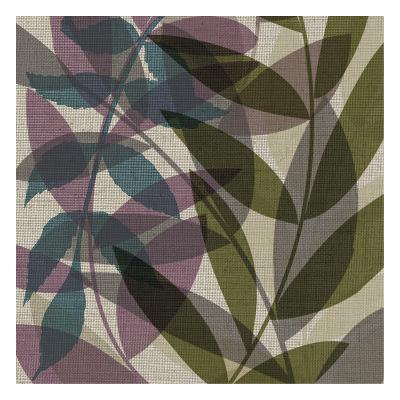 Purple Green Leaves-Kristin Emery-Art Print
