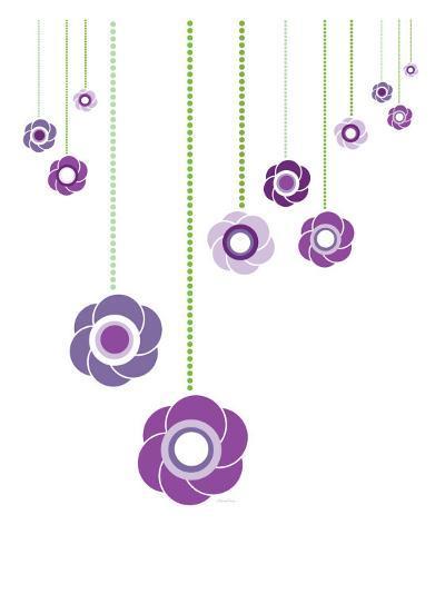 Purple Hanging Flowers-Avalisa-Art Print