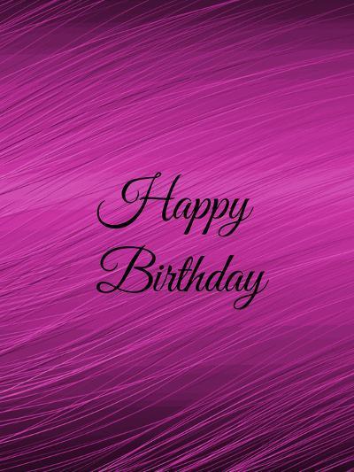 Purple Happy Birthday-Wonderful Dream-Art Print