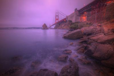 Purple Haze at The Golden Gate Bridge, San Francisco-Vincent James-Photographic Print