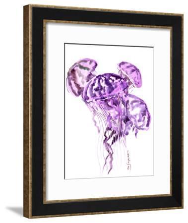 Purple Jellyfish Seaworld-Suren Nersisyan-Framed Art Print