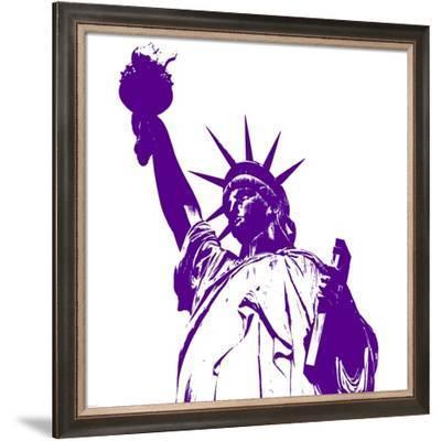 Purple Liberty-Veruca Salt-Framed Art Print