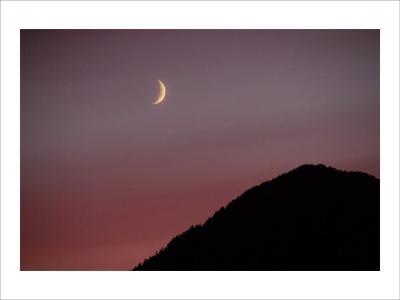 Purple Mountain Moon-Charles Glover-Giclee Print
