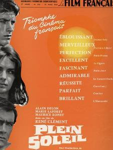 "Purple Noon, 1960 ""Plein Soleil"" Directed by Rene Clement"