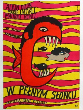 Purple Noon, Polish Movie Poster, 1964