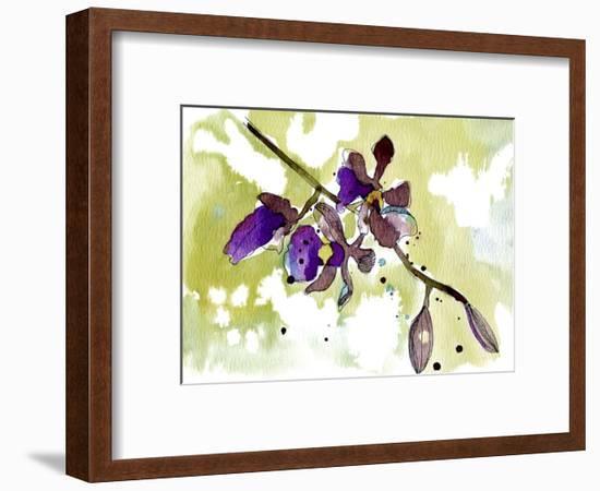Purple Orchids-Cayena Blanca-Framed Giclee Print