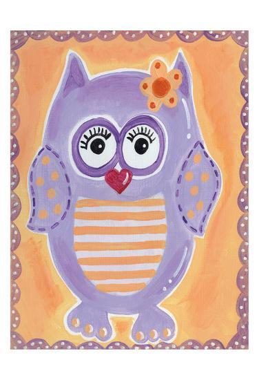 Purple Owl-Tammy Hassett-Art Print