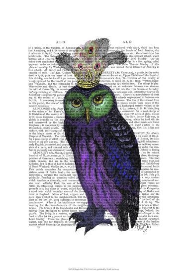Purple Owl-Fab Funky-Art Print