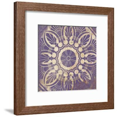 Purple Pattern 1-Jace Grey-Framed Art Print