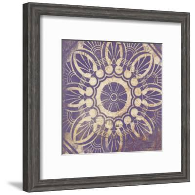 Purple Pattern 1-Jace Grey-Framed Art Print