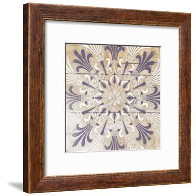 Purple Pattern 3-Jace Grey-Framed Art Print