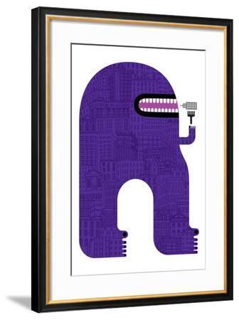 Purple People Eater-Melinda Beck-Framed Art Print