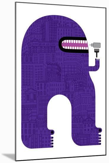 Purple People Eater-Melinda Beck-Mounted Art Print