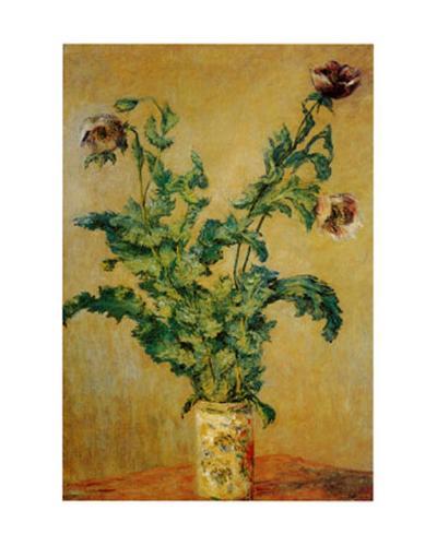 Purple Poppies-Claude Monet-Art Print