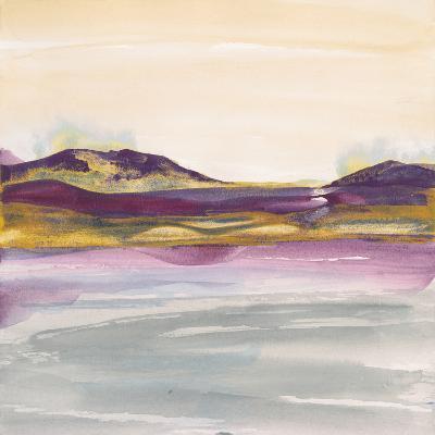 Purple Rock Dawn I Gold-Chris Paschke-Art Print