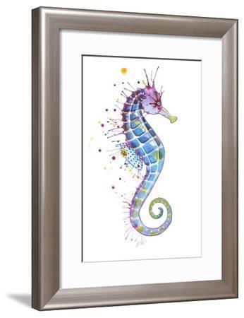 Purple Seahorse-Sam Nagel-Framed Art Print