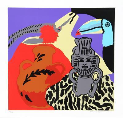 Purple Spell-Hunt Slonem-Serigraph