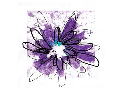 Purple Splash Flower-Elle Stewart-Art Print