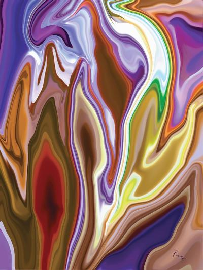 Purple Spring 2-Rabi Khan-Art Print